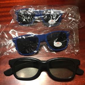 Set of 3 novelty glasses